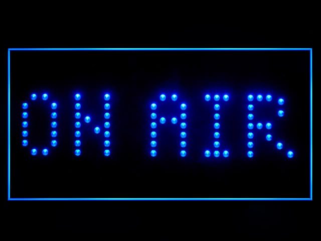 On Air Studio Blue Neon Light Sign