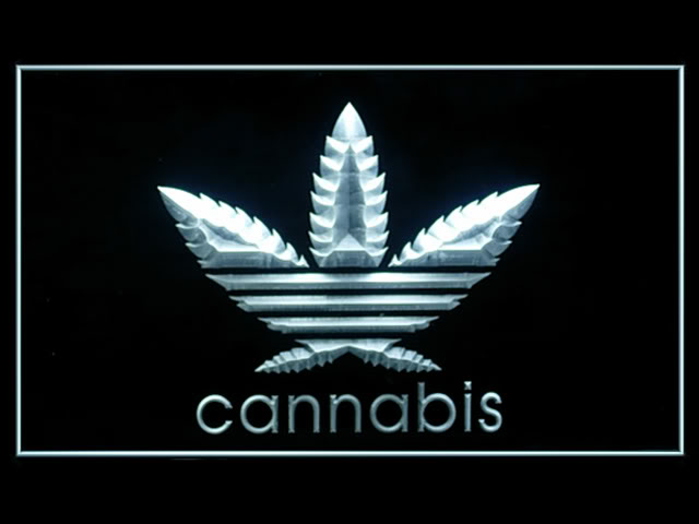 Cannabis Bar White Neon Light Sign
