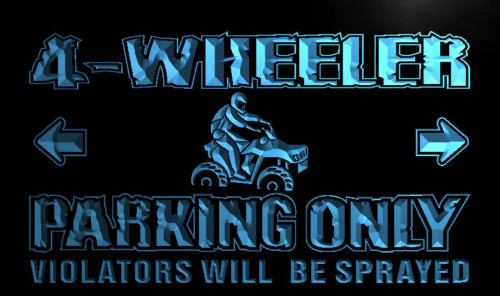 4 Wheeler Parking Only Neon Light Sign
