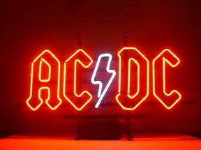ACDC Red White Band Logo Classic Neon Light Sign 18 x 14