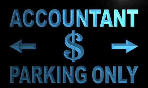 Accountant Parking Only Neon Light Sign