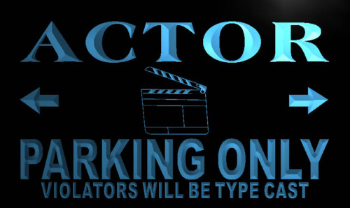 Actor Parking Only Neon Light Sign