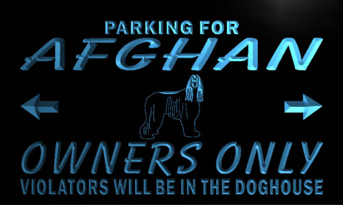Afghan Hound Owners Only Neon Light Sign