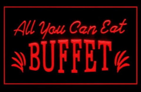 All you can eat buffet LED Neon Sign