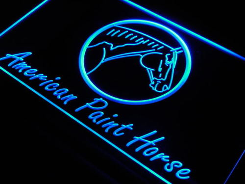 American Paint Horse Model Light Sign