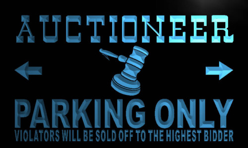 Auctioneer Parking Only Neon Light Sign