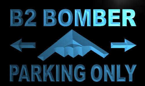 B2 Bomber Parking Only Neon Light Sign