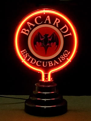 Bacardi Rum Logo Red Neon Sign