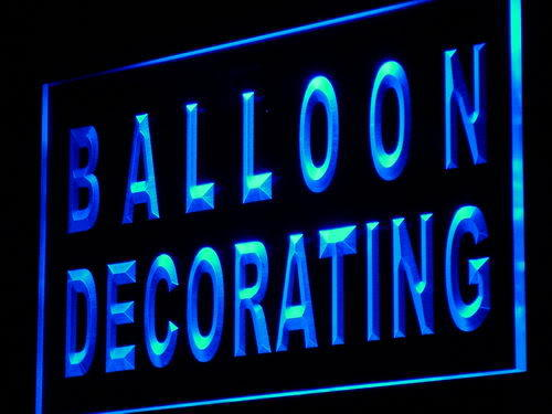 Balloon Decorating Shop Party Neon Light Sign