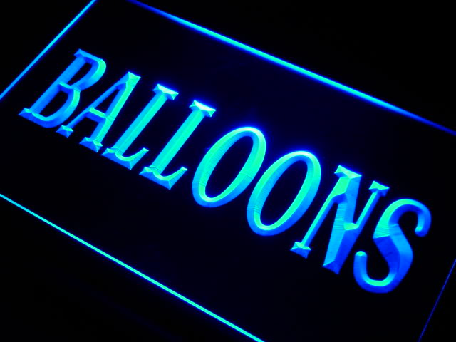 Balloons Supply Shop Neon Light Sign