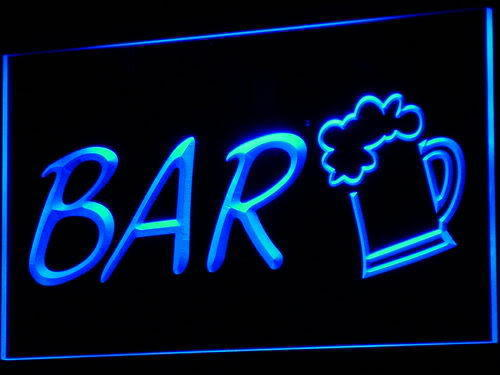 Bar Beer Cup Neon Sign