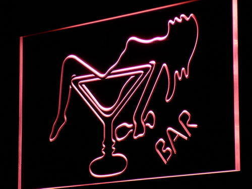 Bar Cocktail Glass Neon Sign