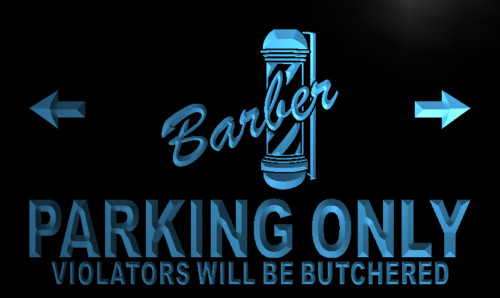 Barber Parking Only Neon Light Sign