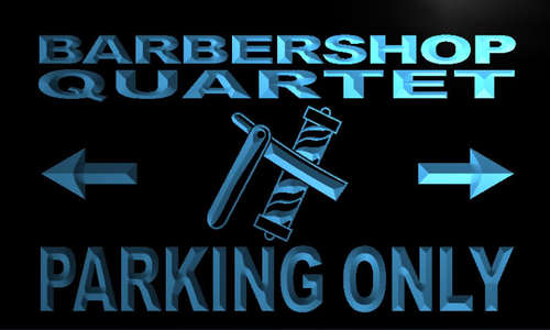 Barbershop Quartet Parking Only Neon Light Sign
