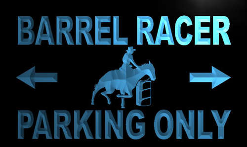 Barrel Racer Parking Only Neon Light Sign