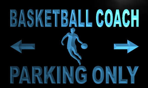 Basketball Coach Parking Only Neon Light Sign