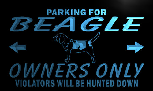 Beagle Owners Parking Only Neon Light Sign