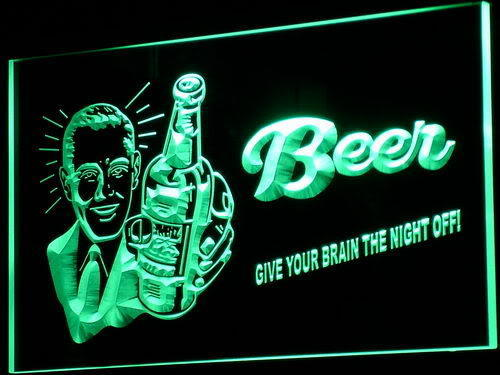Beer Brain Night Off Neon Sign