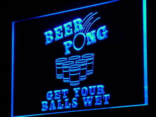 Beer Pong Get Your Balls Wet Neon Light Sign