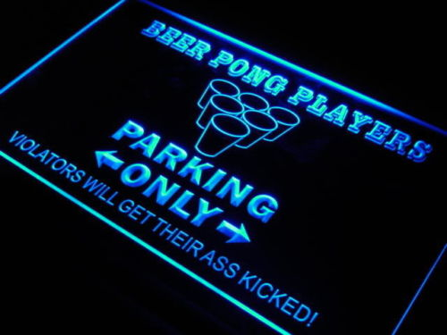 Beer Pong Parking Only Beer Bar Neon Light Sign