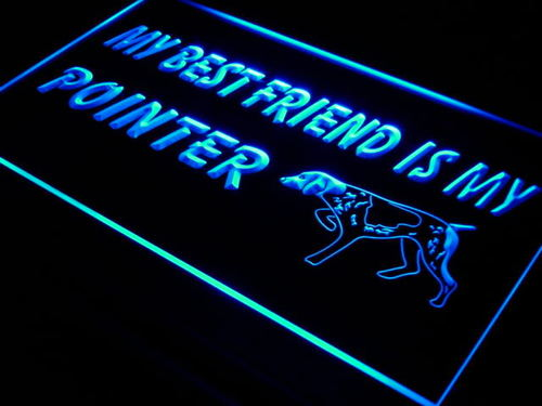 Best Friend Pointer Dog Pet Shop Neon Light Sign