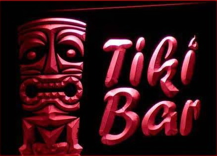 Best Tiki Bar Mask Pub Club Neon Light Sign