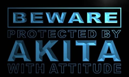 Beware Akita Neon Light Sign