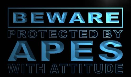 Beware Apes Neon Light Sign