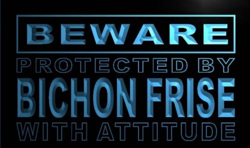 Beware Bichon Frise Neon Light Sign