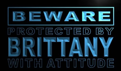 Beware Brittany Neon Light Sign