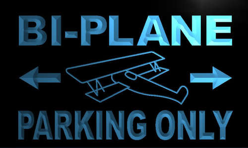Bi - Plane Parking Only Neon Light Sign