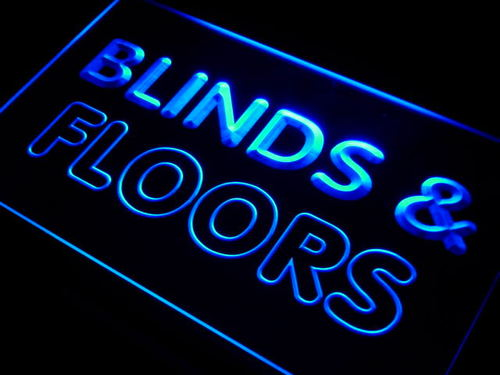 Blinds & Floors Services Neon Light Sign