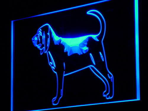 Bloodhound Dog Pet Shop Display Neon Light Sign
