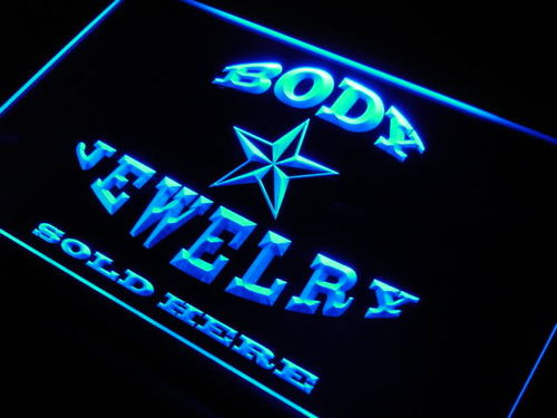 Body Jewelry Sold Here Neon Light Sign