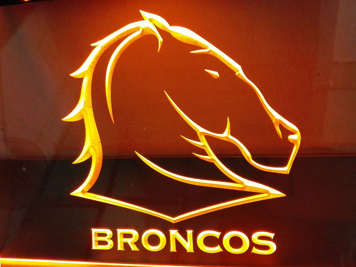 Brisbane Broncos LED Neon Flag Sign Large NRL
