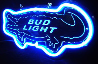 Bud light Crocodile Neon Light Sign