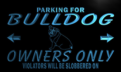 Bulldog Owners Parking Neon Light Sign