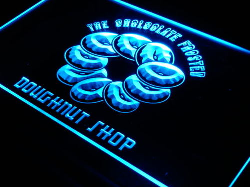 CHOCOLATE DOUGHNUTS Shop Cafe Neon Light Sign