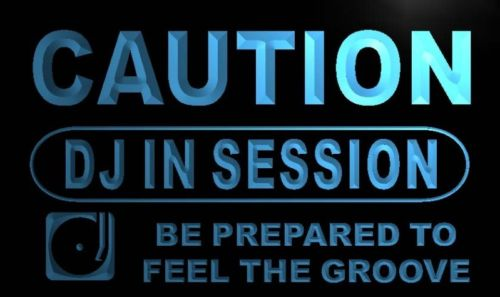 Caution DJ In Session Neon Light Sign