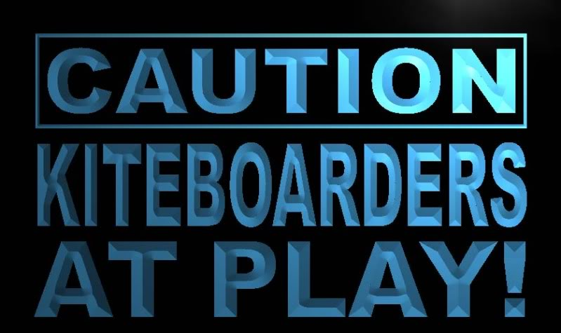 Caution Kiteboarder at Play Neon Light Sign