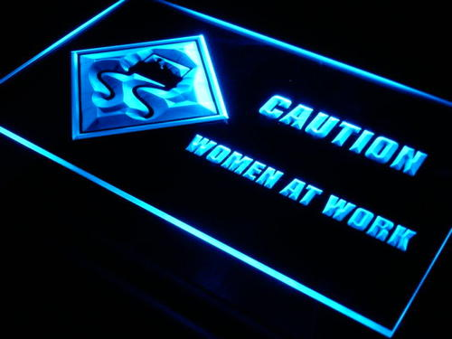 Caution Women at Work Funny Home Neon Light Sign