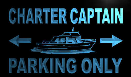 Charter Captain Parking Only Neon Light Sign