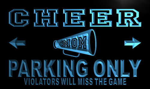 Cheer Mom Parking Only Neon Light Sign