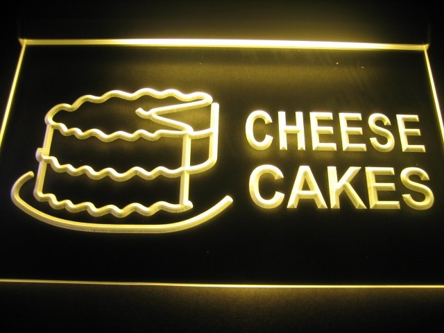 Cheese Cakes Here Neon Sign