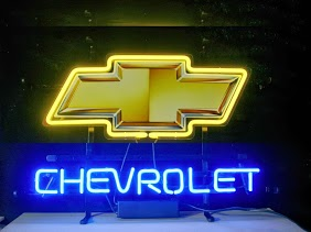 Chevrolet Yellow Bow Tie Classic Neon Light Sign 17 x 14