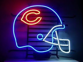 Chicago Bears Helmet Classic Neon Light Sign 17 x 14