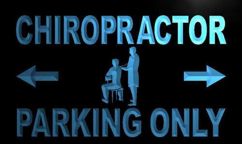 Chiropractor Parking Only Neon Light Sign