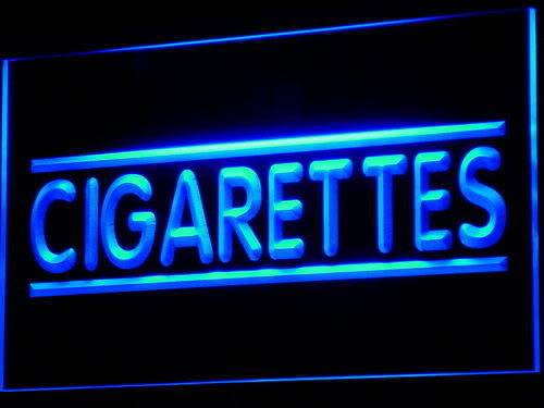 Cigarette Cigars Shop Stores Neon Light Sign