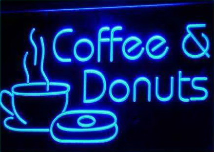 Coffee & Donuts Shop LED Sign
