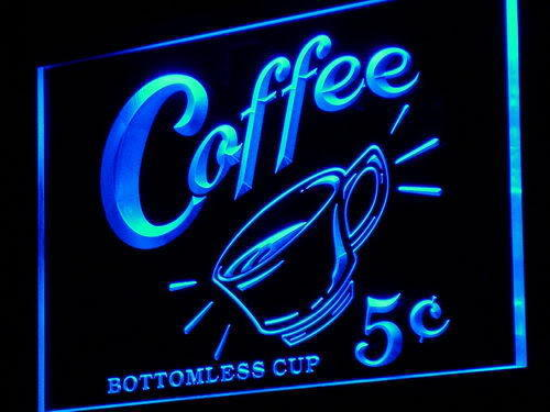 Coffee 5 cents Vintage LED Sign